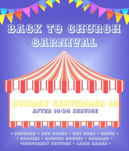 Back to Church Carnival