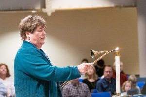 During Lent, members participate in services