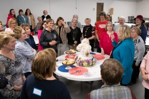 The women of the church gather for their annual retreat