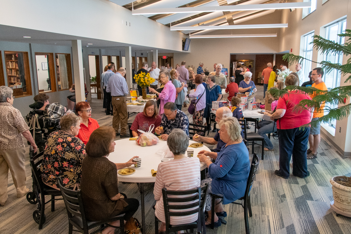 September 15, 2019:  The Commons area has become a popular gathering place for members after since its completion several years ago.