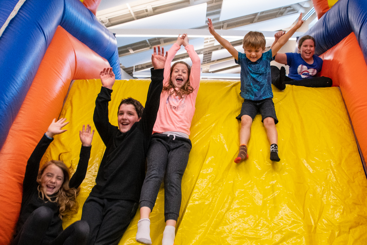 September 22, 2019:  Kickoff for the fall and the Christian Education program meant lots of activities including a giant inflatable slide in the Commons.