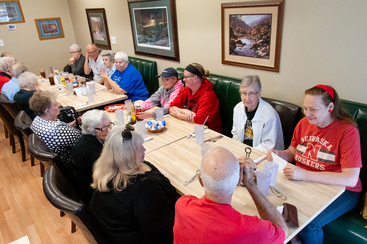 September 28, 2019:  Members of the former Mariners group at Benson Presbyterian Church still gather periodically for lunch.