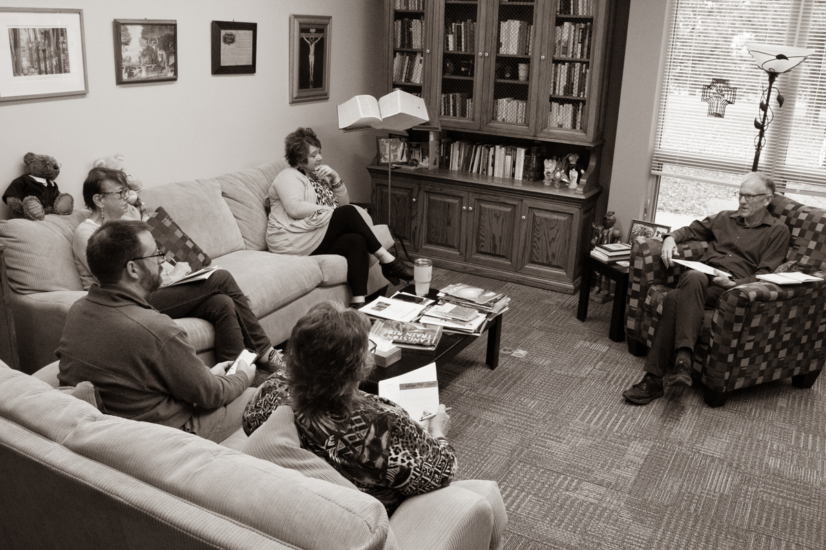 October 10, 2019:  The staff at Church of the Master meets weekly to discuss plans  for the operation and work of the church.