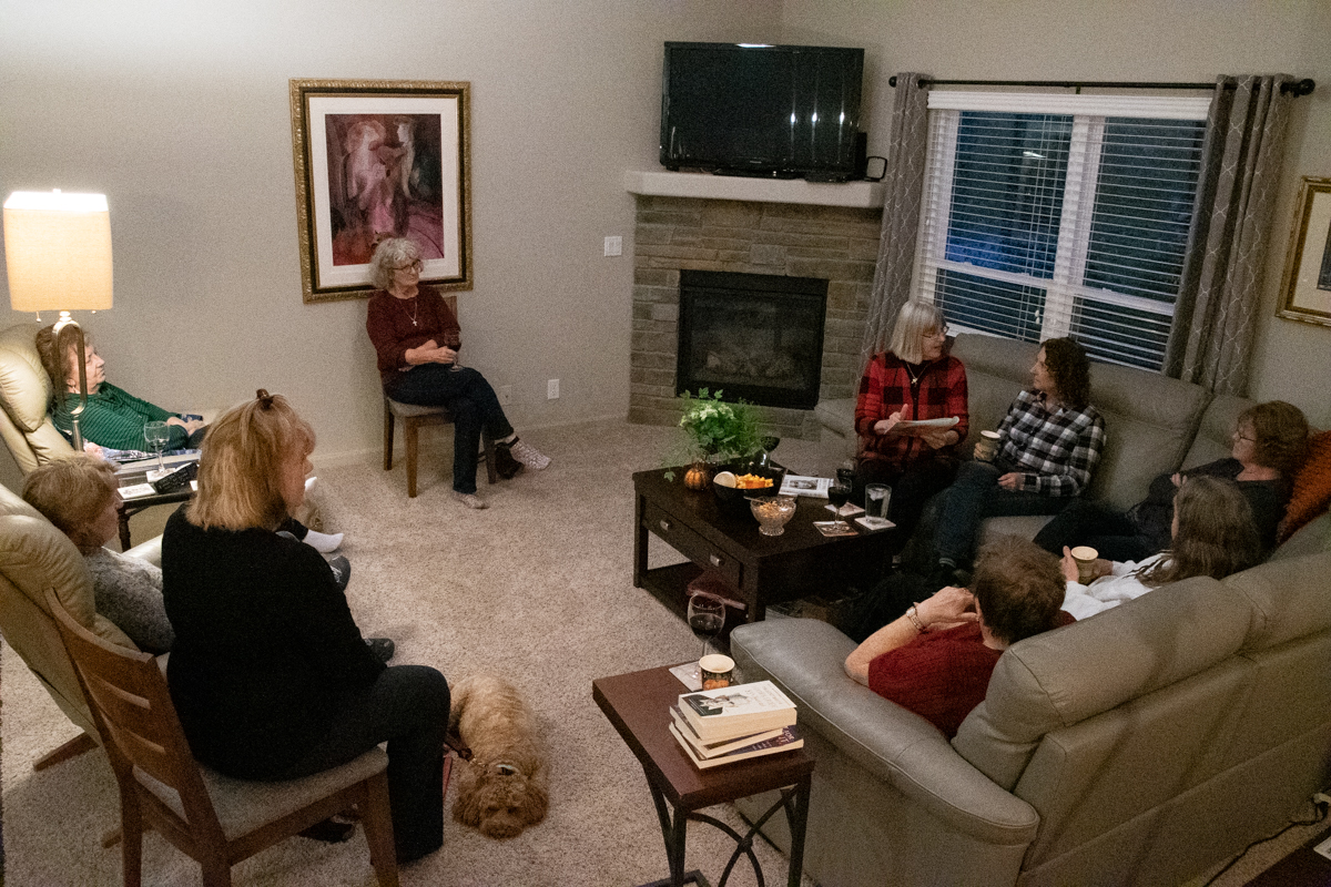 October 21, 2019:  One of the longest running groups in the church, the Presbyterian Women's Evening Book Club meets in the homes of its members.