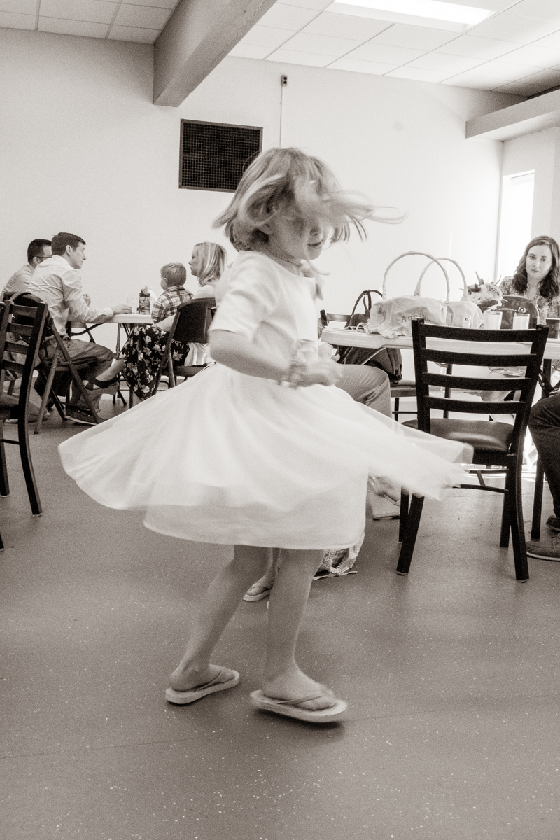 April 21, 2019:  Even if you are at the Easter morning breakfast, if the spirit moves you to twirl...you must get up and twirl.