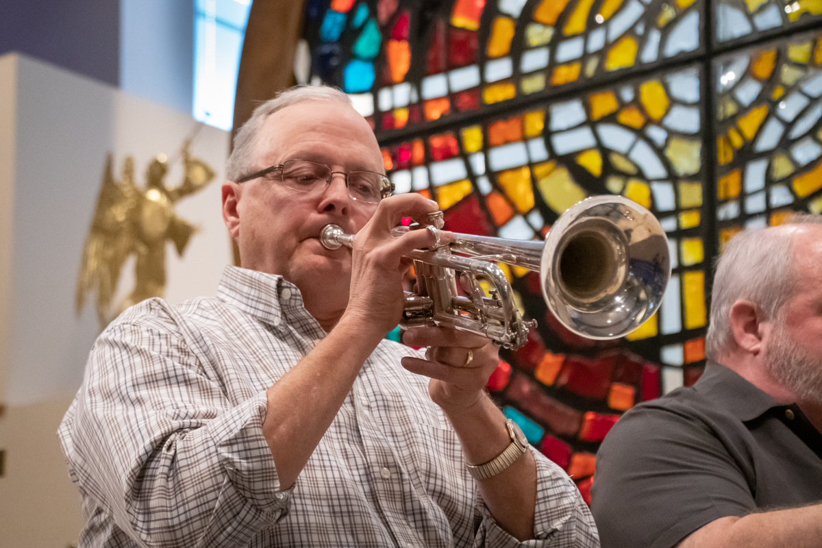 December 2, 2018:  The Master Brass Ensemble usher in Advent with selections of traditional Christmas music for the Worship service.