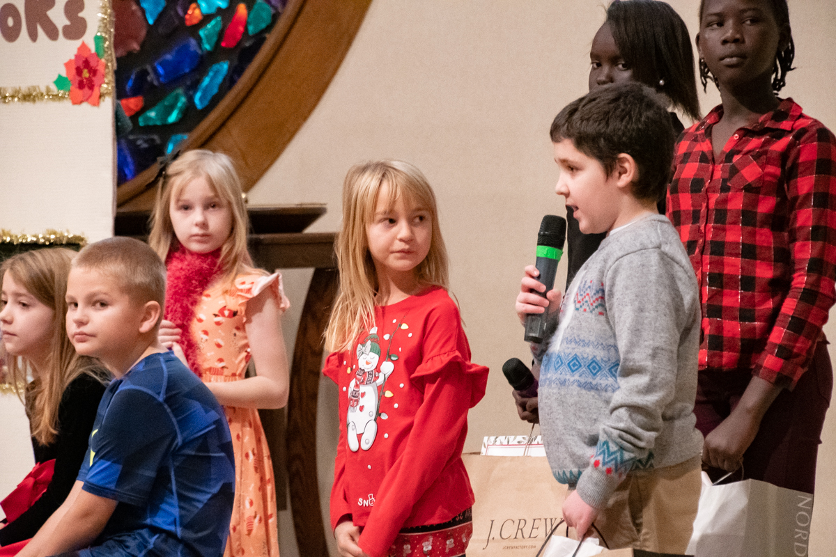 December 16, 2018:  Not everyone has the courage as a kid to hold the microphone and have a speaking part in the Christmas program.