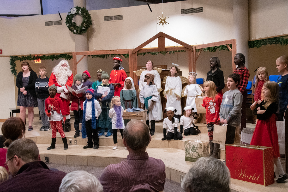 December 16, 2018:  Doesn't every children's Christmas program end with the grand finale where all the kids come together for a final song?