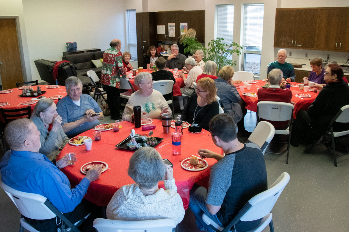 December 23, 2018:  The Choir gathers for breakfast together between services.The Choir gathers for breakfast together between services.
