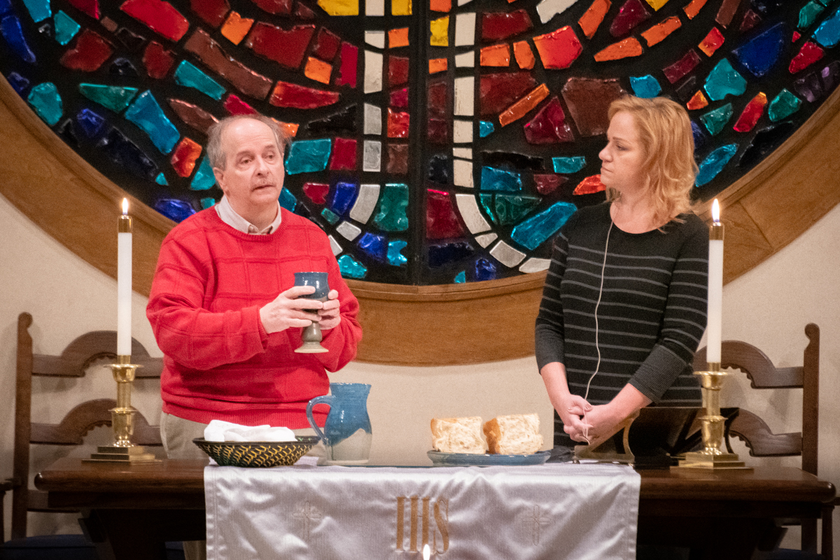 January 6, 2019:  Thanks to a Pastor on vacation and some mis communication, Mike O'Bradovich and Brenda Norton jump in to lead the early service.